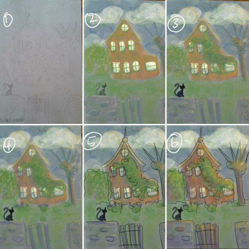 Digital Drawing Coraline S House Rose Arrowsmith Decoux